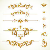 Vector set frames, vignette in Victorian style. Royalty Free Stock Images