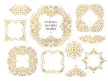 Vector set of frames, vignettes in Eastern style. Stock Image