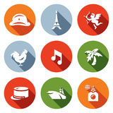 Vector Set of France Icons.  Stock Photos