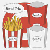 Vector Set of French Fries Boxes Royalty Free Stock Photo