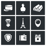 Vector Set of French Legion Icons. Stock Photos