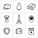 Vector Set of French Legion Icons. Royalty Free Stock Photo