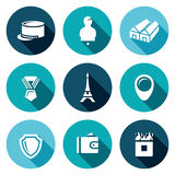 Vector Set of French Legion Icons.  Stock Image