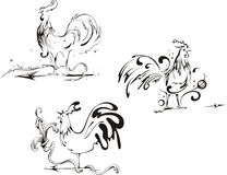 French Roosters Royalty Free Stock Photos