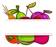 Vector set. Fruits and vegetables Royalty Free Stock Image