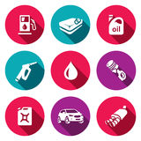 Vector Set of Fuel Icons.  Royalty Free Stock Photography