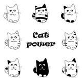 Vector set of funny cartoon cats Royalty Free Stock Photography