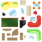 Vector Set of furniture Stock Photos