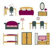 Vector set of furniture Royalty Free Stock Images