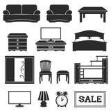 Vector set. Furniture icons. royalty free illustration