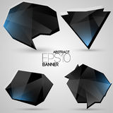 Vector set of futuristic banners Stock Photography