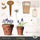 Vector Set: Gardening Stock Image