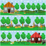 Vector set of gardening concept posters, banners in flat style. Royalty Free Stock Photos