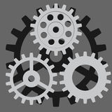 Vector set. Gear, cog, sprocket, wheel. Form the abstract mechanism Royalty Free Stock Images