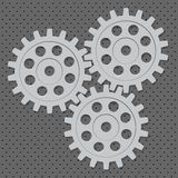 Vector set. Gear, cog, sprocket, wheel. Form the abstract mechanism Stock Photography