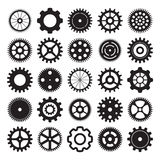Vector set of gear wheels on white background Royalty Free Stock Photo