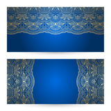 Vector set geeting or invitation cards. Royalty Free Stock Image