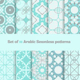 Vector Set of geometric arabic  patterns in light Royalty Free Stock Images