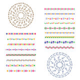 Vector set of geometric borders. Can be used as texture or frame Stock Photos