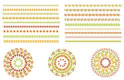 Vector set of geometric borders. Can be used as texture or frame Stock Photo