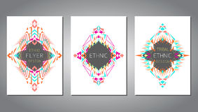 Vector set of geometric colorful brochure template for business and invitation Royalty Free Stock Images