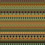 Vector set geometric elements. Colored geometric elements including ethnic motif royalty free illustration