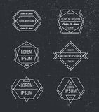 Vector set of geometric line hipster logos, icons, badges . royalty free illustration