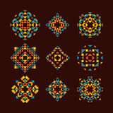 Vector Set of Geometric Native Pattern Elements Stock Photography