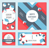 Vector Set Geometric Pattern, Flyers and Banners. Elegant modern flyers and cards with origami and geometric elements. Trendy Retro design poster, cover, card Stock Photography