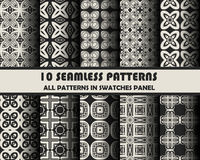 Vector set of geometric patterns for design. Eps 10 Royalty Free Stock Image