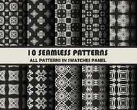 Vector set of geometric patterns for design. Eps 10 Stock Photo