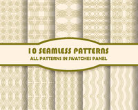 Vector set of geometric patterns for design. Eps 10 Stock Images