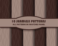 Vector set of geometric patterns for design. Eps 10 Stock Photography