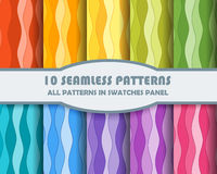 Vector set of geometric patterns for design. Eps 10 Royalty Free Stock Images