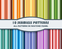 Vector set of geometric patterns for design. Eps 10 Royalty Free Stock Photo