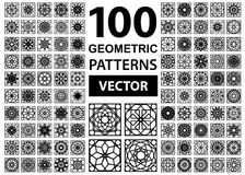 Vector Set of Geometric Patterns Royalty Free Stock Images