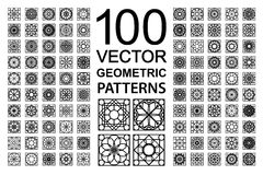 Vector Set of Geometric Patterns Royalty Free Stock Photo