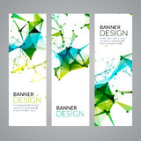 Vector set geometric polygonal banners. Technology modern business template. Stock Image