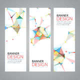 Vector set geometric polygonal banners. Technology modern business template. Stock Images