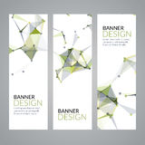 Vector set geometric polygonal banners. Technology modern business template. Royalty Free Stock Image