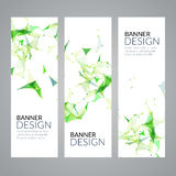 Vector set geometric polygonal banners. Technology modern business template. Royalty Free Stock Photography