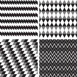 Vector set geometric seamless background Royalty Free Stock Photos