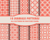 Vector set of geometric seamless patterns for design Royalty Free Stock Photos