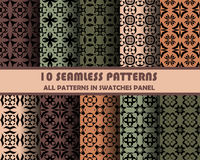 Vector set of geometric seamless patterns for design Royalty Free Stock Image
