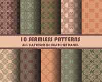 Vector set of geometric seamless patterns for design Stock Photos