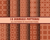 Vector set of geometric seamless patterns for design Stock Photo