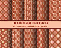 Vector set of geometric seamless patterns for design Stock Images