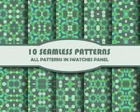 Vector set of geometric seamless patterns for design. Eps 10 stock illustration