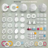 Vector Set: geometrical elements. Lots of  graphic elements to creation your layout Stock Photography