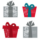 Vector set of gift box cards Stock Images